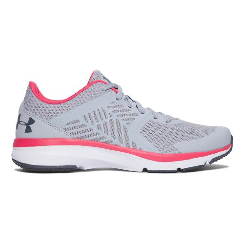Womens Under Armour Micro G Press TR Cross Training Shoe - Grey/Pink 6