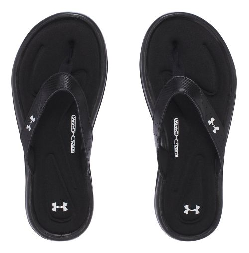 Under Armour Marbella V T Sandals Shoe - Black/Silver 3Y