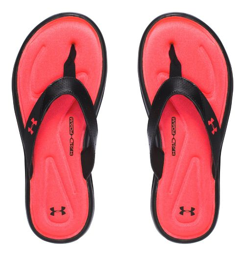 Under Armour Marbella V T Sandals Shoe - Black/Coral 4Y