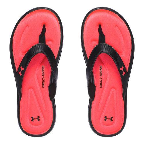 Under Armour Marbella V T Sandals Shoe - Black/Coral 5Y