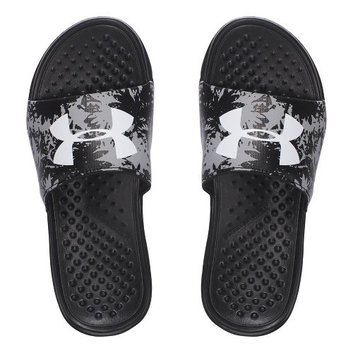 Under Armour Strike Floral SL Sandals Shoe - Black/Grey 1Y