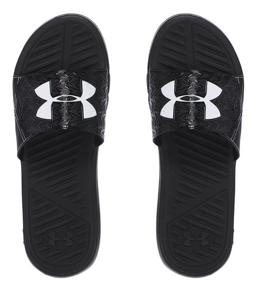 Mens Under Armour M CF Force II SL Sandals Shoe - Black/White 12
