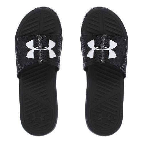 Mens Under Armour M CF Force II SL Sandals Shoe - Black/White 10