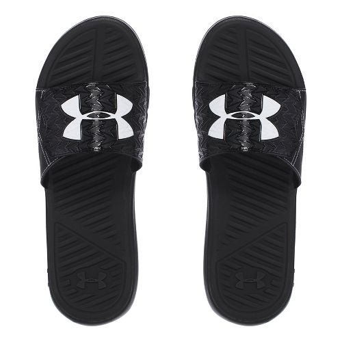 Mens Under Armour M CF Force II SL Sandals Shoe - Black/White 8