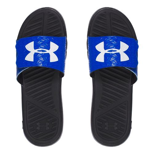 Mens Under Armour M CF Force II SL Sandals Shoe - Black/Royal 9