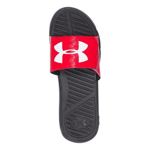 Mens Under Armour M CF Force II SL Sandals Shoe - Red/Black 10