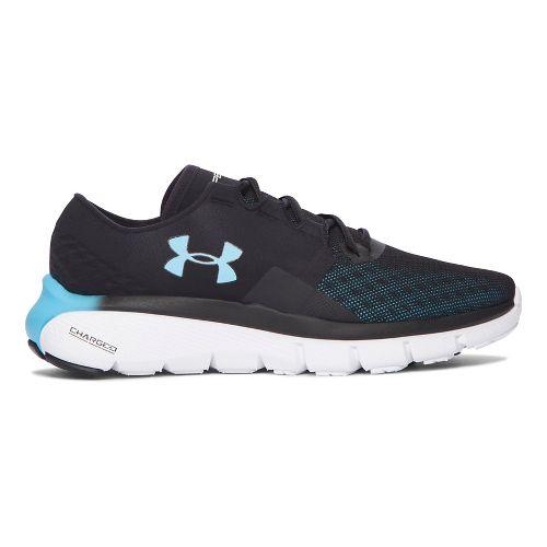 Womens Under Armour Speedform Fortis 2.1  Running Shoe - Black 7.5
