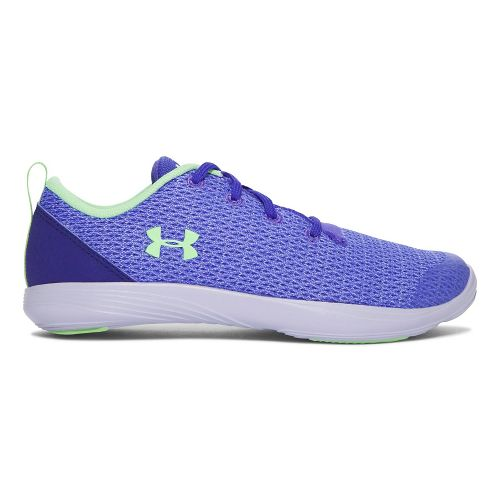 Under Armour Street Precision Sport Low Casual Shoe - Purple/Lime 4Y