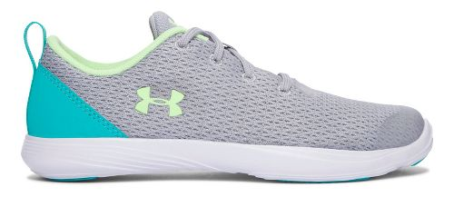 Under Armour Street Precision Sport Low Casual Shoe - Overcast Grey/Lime 5Y