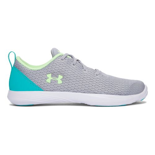 Under Armour Street Precision Sport Low Casual Shoe - Overcast Grey/Lime 3.5Y