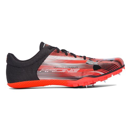 Mens Under Armour Kick Sprint Spike Track and Field Shoe - Phoenix/White 8.5