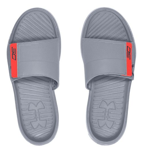 Mens Under Armour M Curry III SL Sandals Shoe - Charcoal/Orange 10