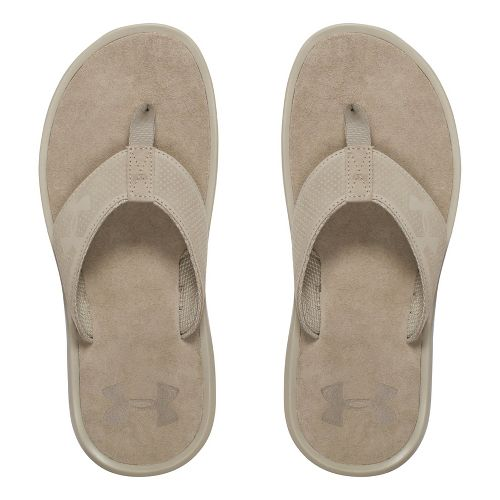 Mens Under Armour Elite Harbor T Sandals Shoe - Dune/Black 12