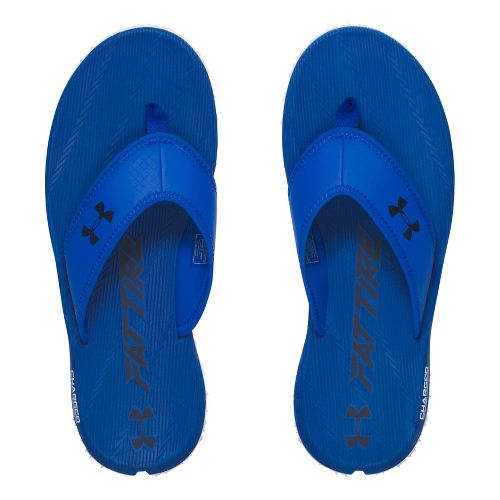 Mens Under Armour Fat Tire T Sandals Shoe - White/Navy 9
