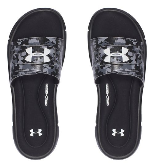 Mens Under Armour Ignite Deception V SL Sandals Shoe - Black/White 10