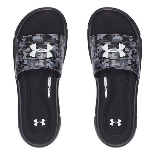 Mens Under Armour Ignite Deception V SL Sandals Shoe - Black/White 11