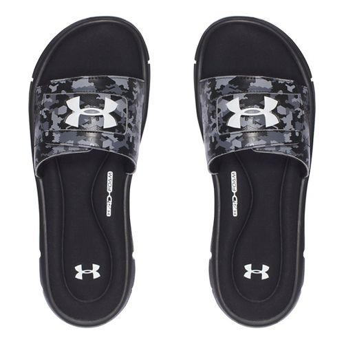 Mens Under Armour Ignite Deception V SL Sandals Shoe - Black/White 12