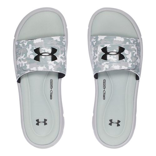 Mens Under Armour Ignite Deception V SL Sandals Shoe - Aluminum/Black 11