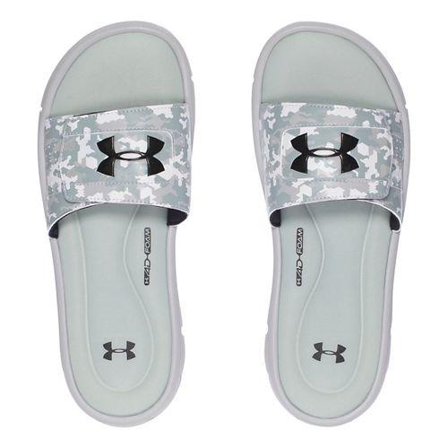 Mens Under Armour Ignite Deception V SL Sandals Shoe - Aluminum/Black 7
