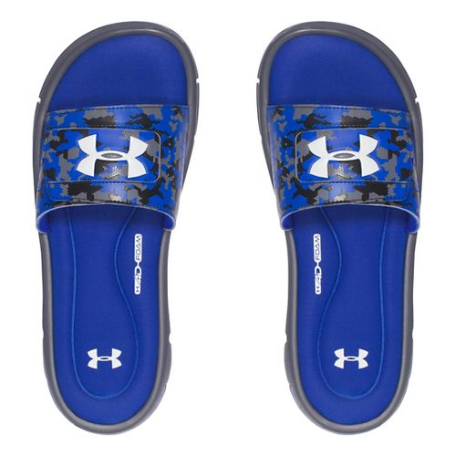 Mens Under Armour Ignite Deception V SL Sandals Shoe - Royal/White 10