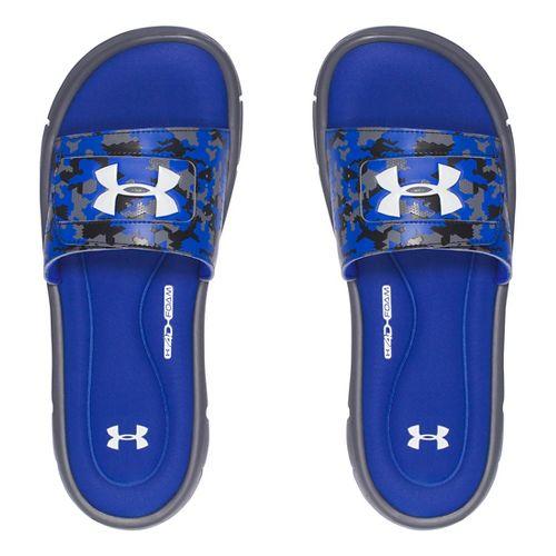 Mens Under Armour Ignite Deception V SL Sandals Shoe - Royal/White 12