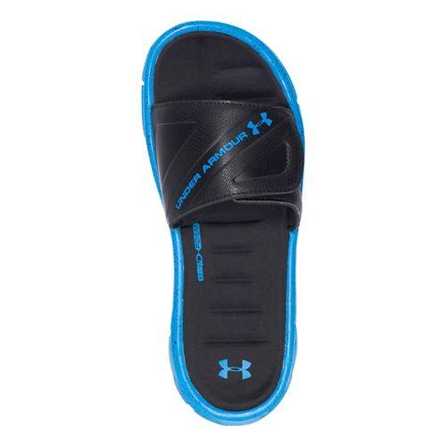 Mens Under Armour Ignite WR SL Sandals Shoe - Black/Blue 10