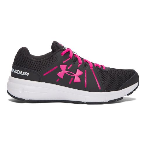 Womens Under Armour Dash RN 2 Running Shoe - Black/Pink 9