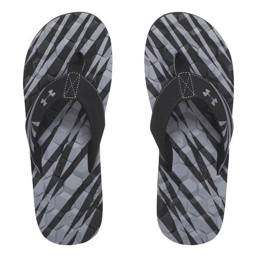 Mens Under Armour Marathon Key II T Sandals Shoe - Black/Grey 10