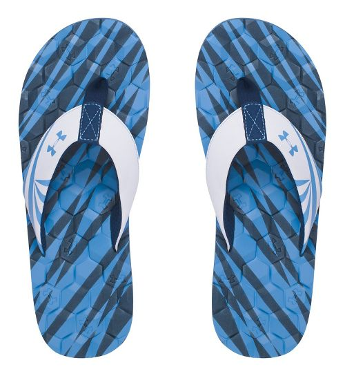 Mens Under Armour Marathon Key II T Sandals Shoe - Navy/White 10