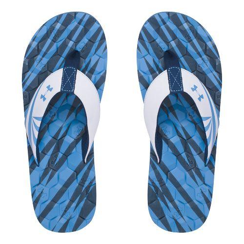 Mens Under Armour Marathon Key II T Sandals Shoe - Navy/White 10