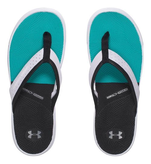 Mens Under Armour  Micro G Illusion T Sandals Shoe - White/Black 9