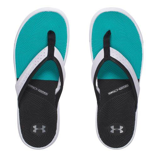 Mens Under Armour  Micro G Illusion T Sandals Shoe - White/Black 8