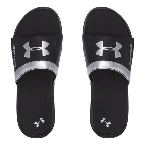 Mens Under Armour  Playmaker VI SL Sandals Shoe - Black/Silver 12