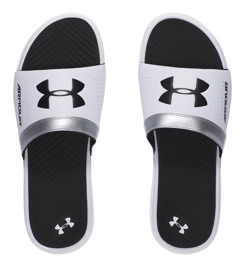 Mens Under Armour  Playmaker VI SL Sandals Shoe - White/Black 7