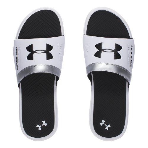 Mens Under Armour  Playmaker VI SL Sandals Shoe - White/Black 7