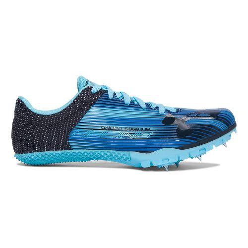 Womens Under Armour Kick Sprint Spike Track and Field Shoe - Venetian Blue 5.5