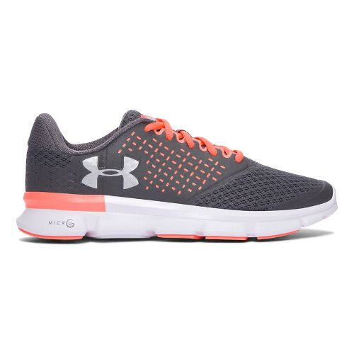 Womens Under Armour  Micro G Speed Swift 2  Running Shoe - Grey/Orange 9