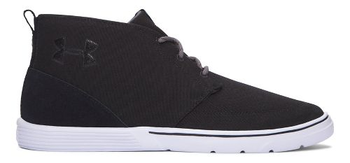 Mens Under Armour Street Encounter Mid Casual Shoe - Black/White 8