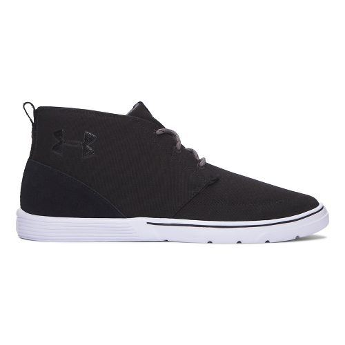 Mens Under Armour Street Encounter Mid Casual Shoe - Black/White 10