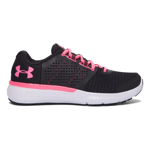 Womens Under Armour Micro G Fuel RN  Running Shoe - Black/Cerise 8