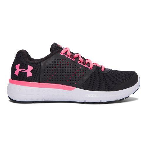 Womens Under Armour Micro G Fuel RN  Running Shoe - Black/Cerise 9