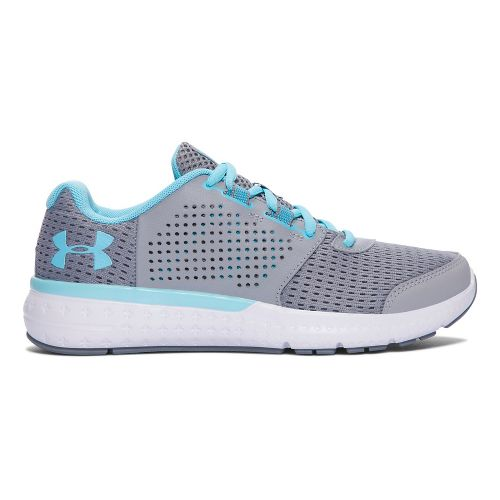 Womens Under Armour Micro G Fuel RN  Running Shoe - Steel/Blue 6.5