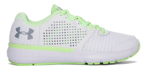 Womens Under Armour Micro G Fuel RN Running Shoe - White/Lime 5