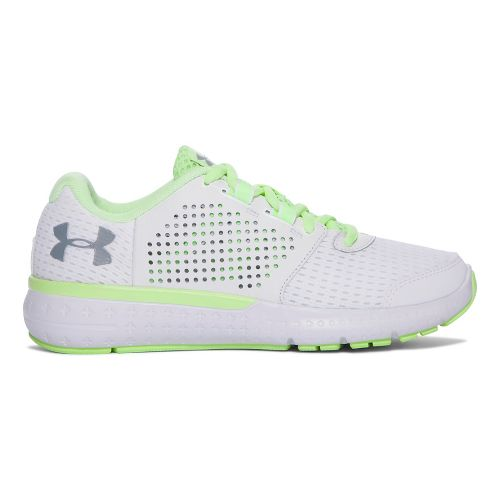Womens Under Armour Micro G Fuel RN  Running Shoe - White/Lime 8.5