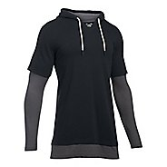 Mens Under Armour Ali 2 for 1 Hoodie Short Sleeve Technical Tops