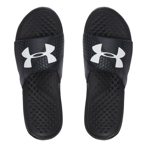 Mens Under Armour Strike Micro Geo SL Sandals Shoe - Black/Grey 8