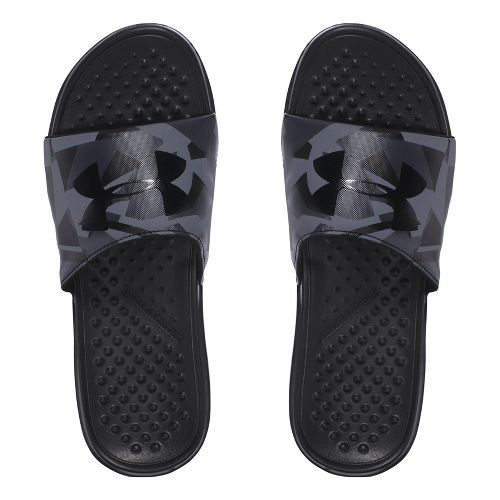 Mens Under Armour Strike Splice SL Sandals Shoe - Black/Charcoal 12