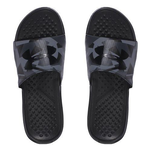 Mens Under Armour Strike Splice SL Sandals Shoe - Black/Charcoal 7