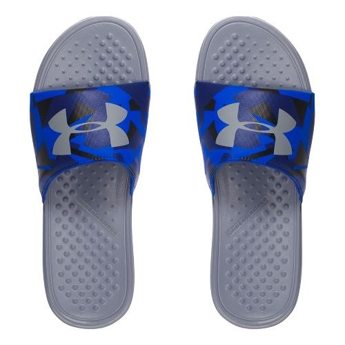 Mens Under Armour Strike Splice SL Sandals Shoe - Steel/Navy 11