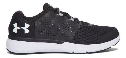 Mens Under Armour Micro G Fuel RN Running Shoe - Black/White 10.5